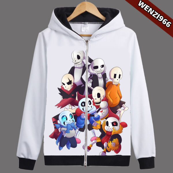 Unisex Game Undertale Sans/Papyrus Cosplay Sweatshirt Hoodie Jacket Coat #GT06