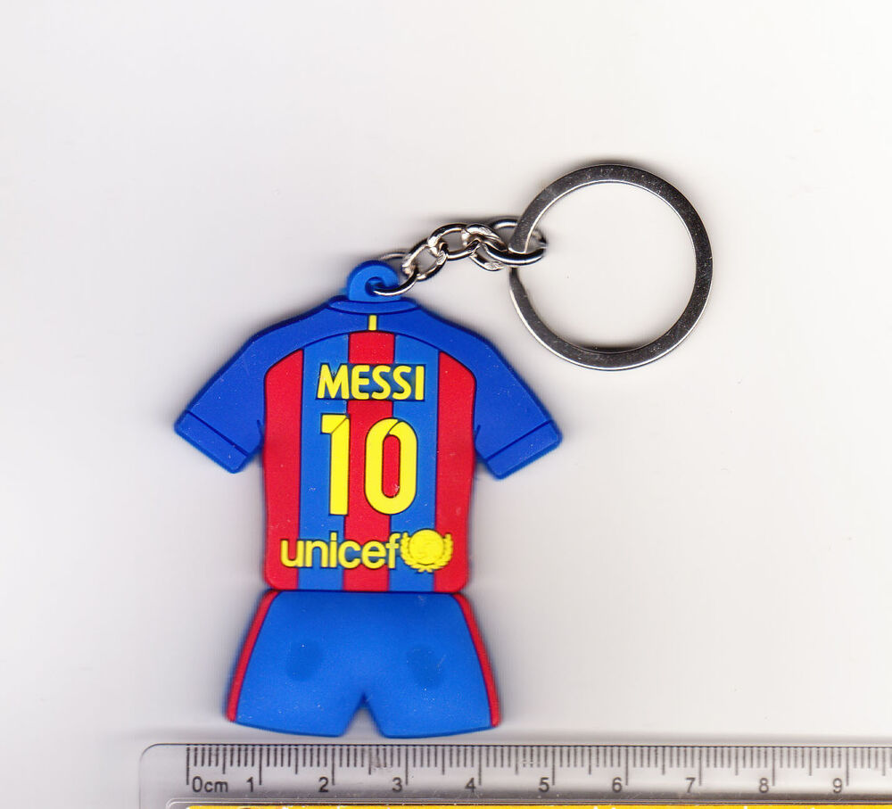 Barcelona  Messi Football Soccer Keychain Key Chain Ring Jersey