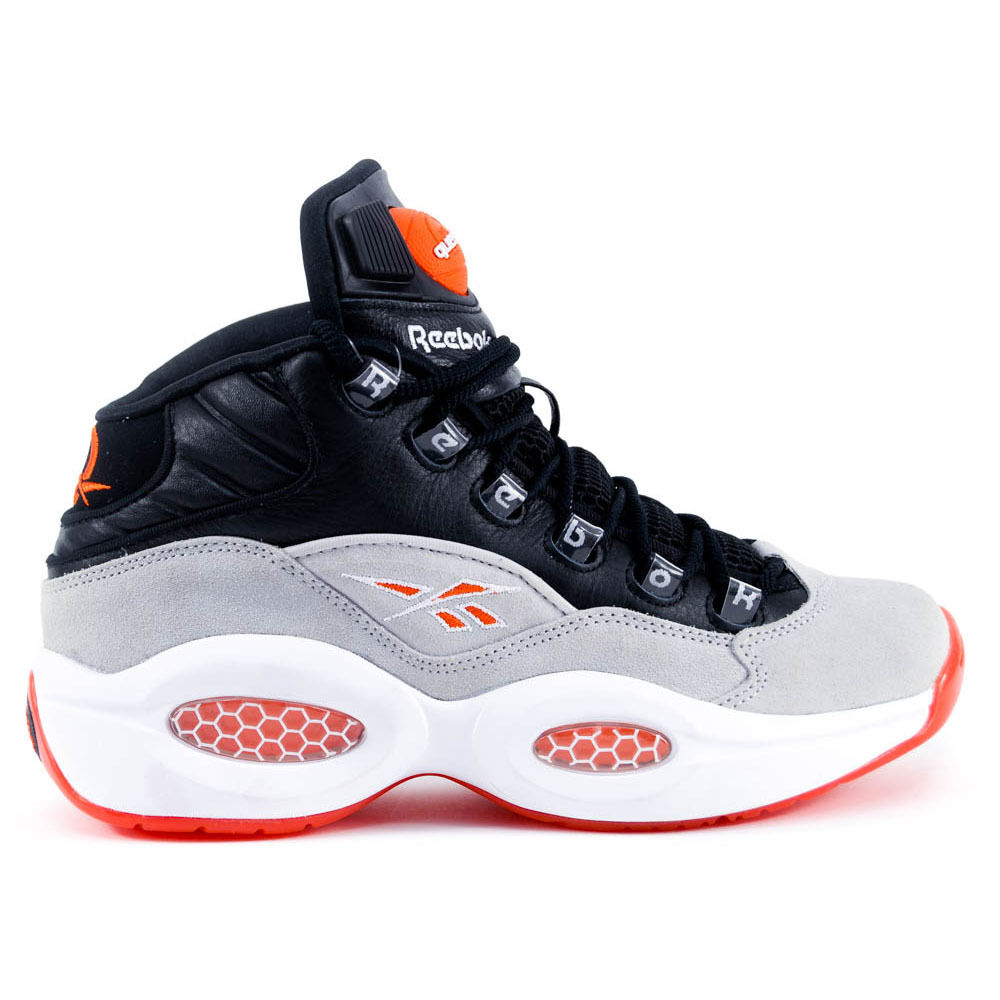 reebok question mid black white flux allen iverson