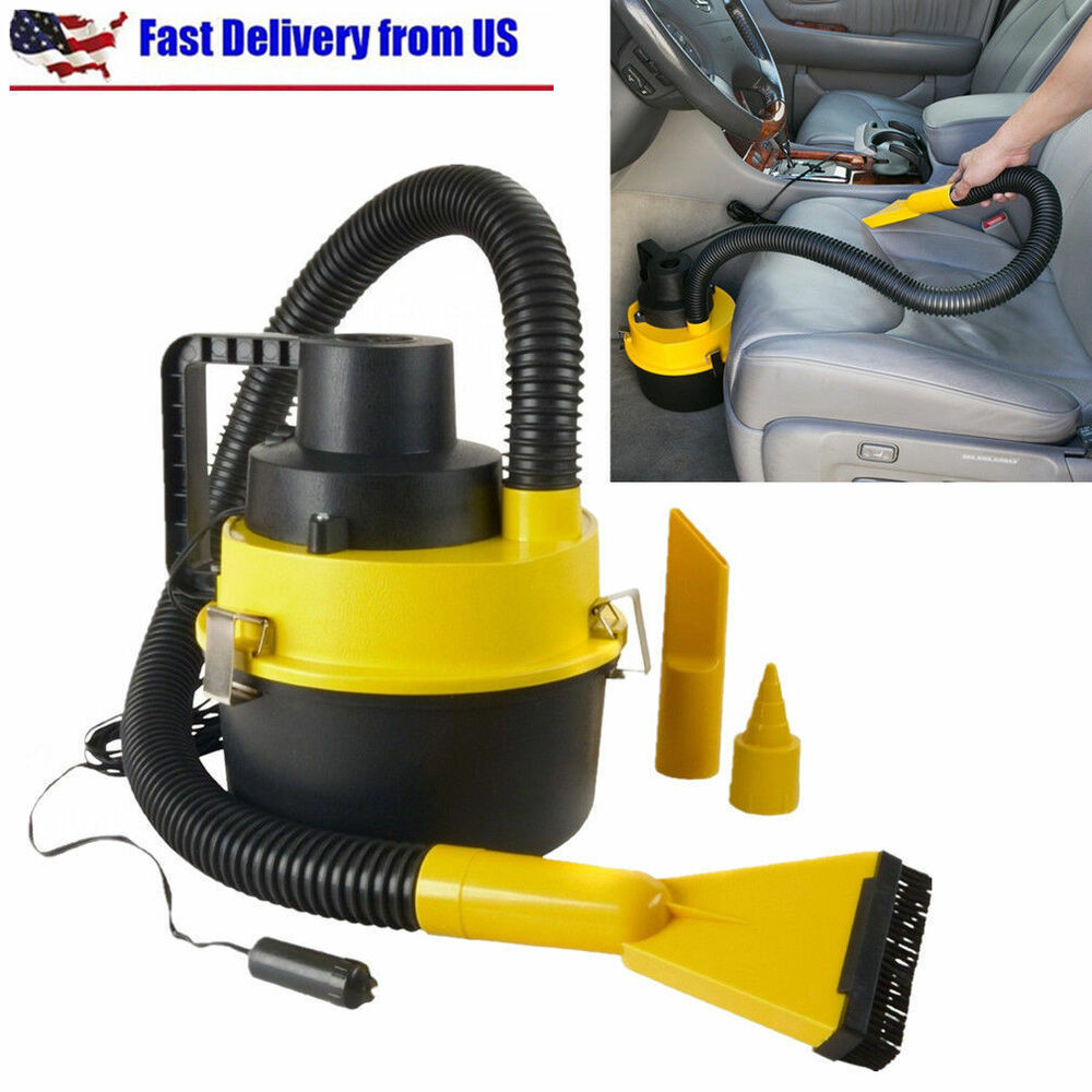 12v Wet Dry Vac Vacuum Cleaner Inflator Portable Turbo