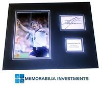 ALAN SHEARER AUTHENTIC SIGNED ENGLAND PHOTO MOUNT GENUINE AUTOGRAPH NEWCASTLE