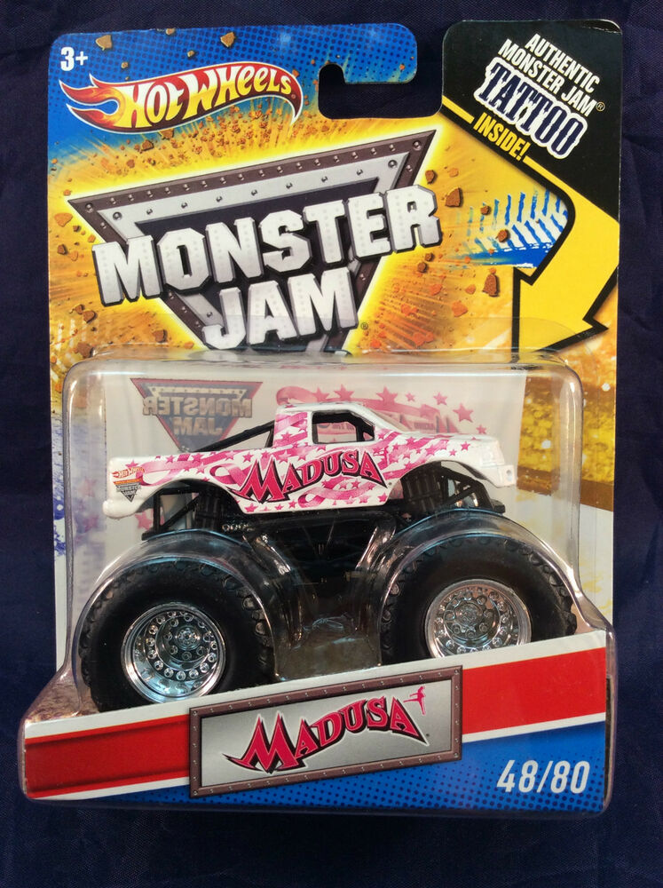 hot wheels monster jam 2011 madusa 48 80 tattoo series new 1 64 ebay. Black Bedroom Furniture Sets. Home Design Ideas