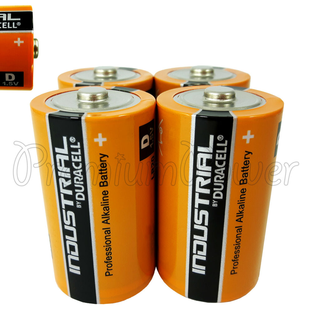 4 x duracell d size batteries industrial procell alkaline. Black Bedroom Furniture Sets. Home Design Ideas