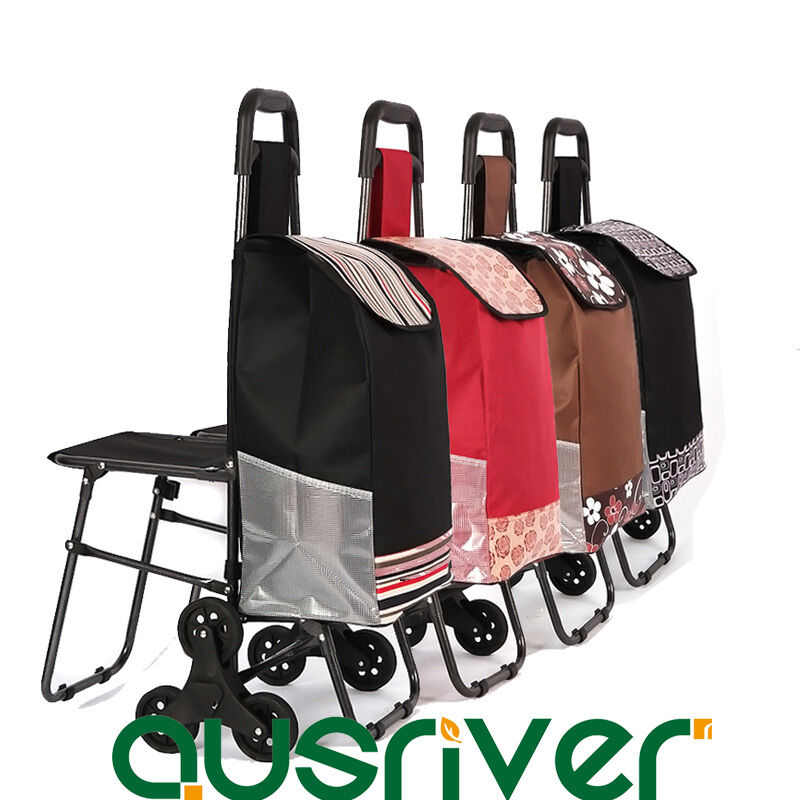 New Foldable Collapsible Shopping Cart Trolley Bag 2 3