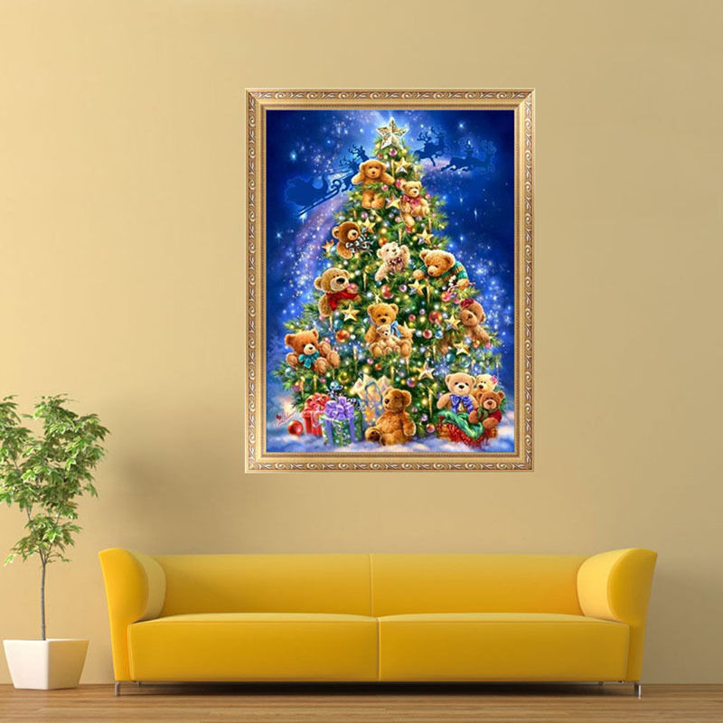 12 Diy Painting Ideas That Will Help You To Upgrade The: Christmas Tree 5D Diamond Painting DIY Embroidery Cross