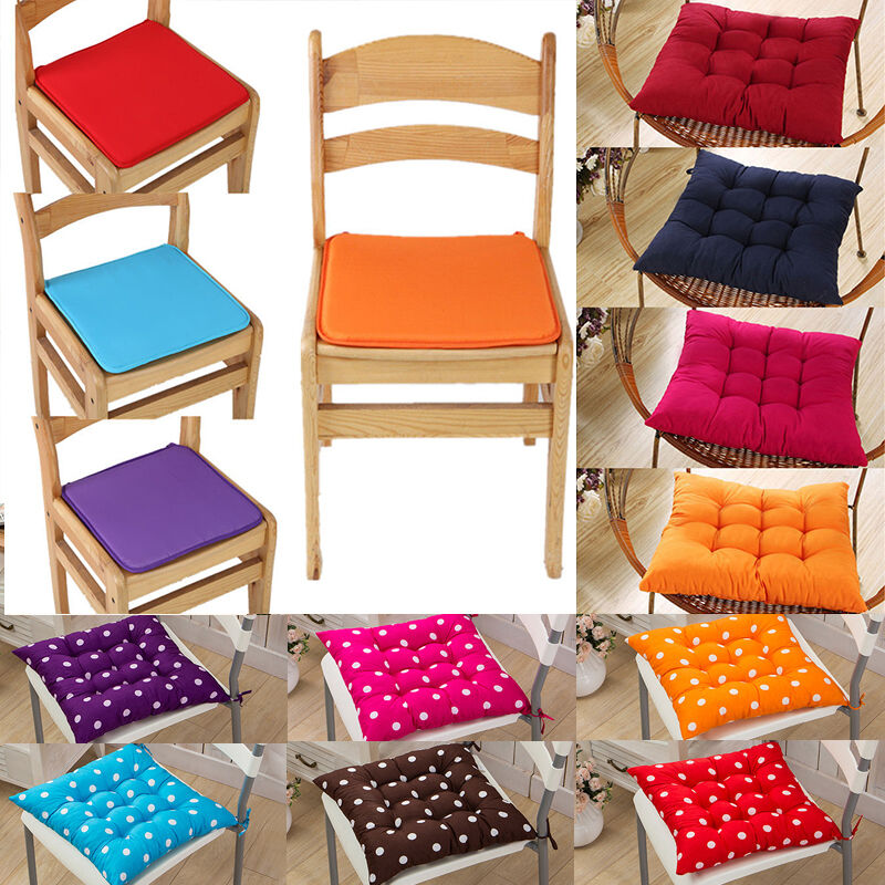 40x40 Chair Cushion Seat Pad Tie On Garden Dining Kitchen