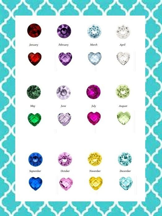 authentic origami owl retired round amp heart birthstone