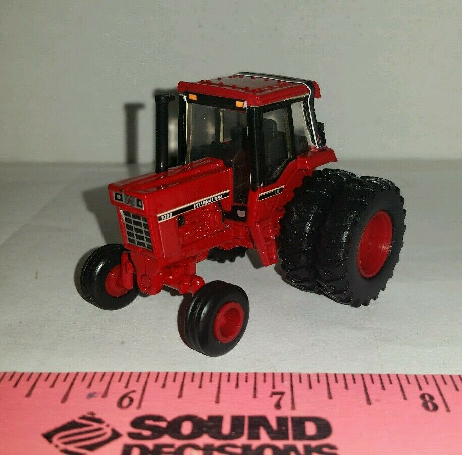 1/64 custom ERTL farm toys international ih 1086 red cab version tractor  duals! | eBay