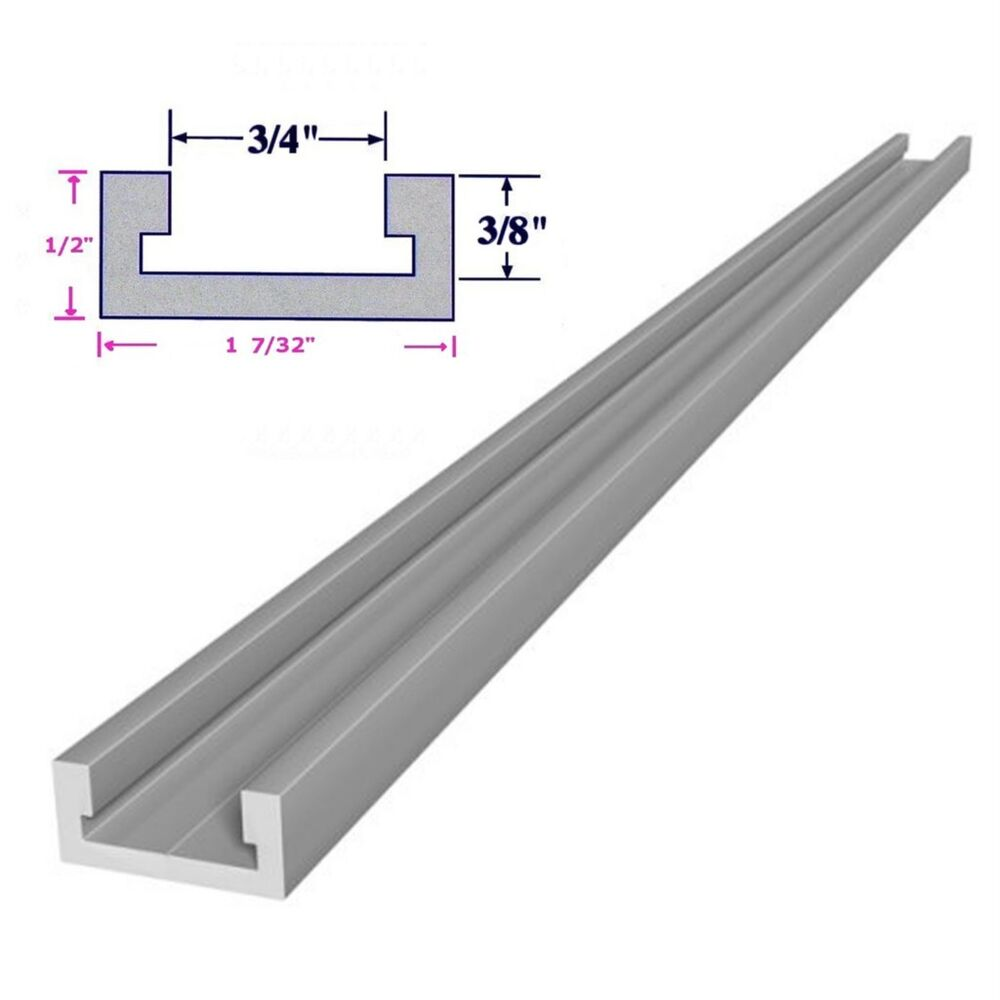 3 4x3 8x12 Inch T Track Miter Track For Router Table Saw