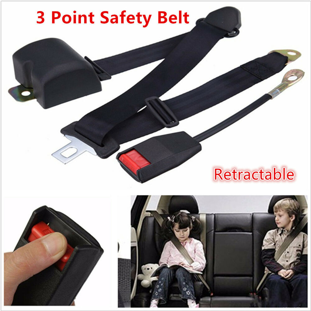 Three Point Belt : Point adjustable car seat belt bolt extension