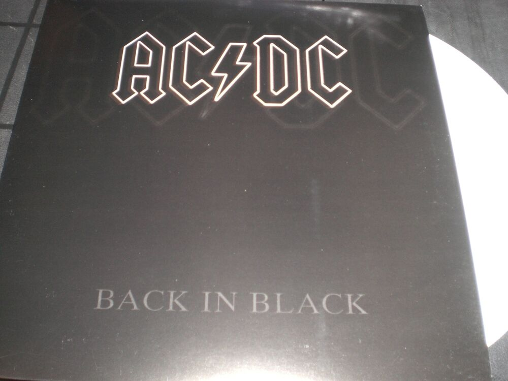 ac dc back in black vinyl lp unplayed color ebay. Black Bedroom Furniture Sets. Home Design Ideas