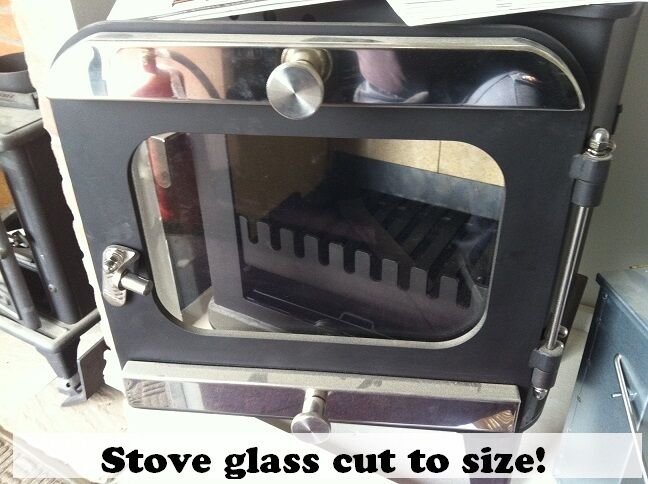 Stove fire glass woodburner cracked multi fuel cut to size for How to cut glass with fire
