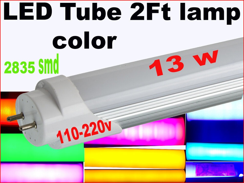 T8 Led Tube Lamp Red Blue Green 9 Color Uv 13w 2ft 60 Cm