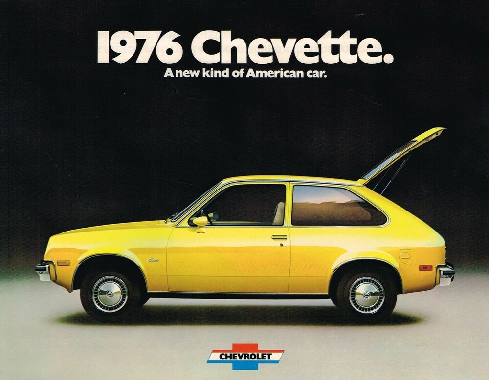 1976 chevy chevette brochure pamphlet scooter hatchback rally 1 6