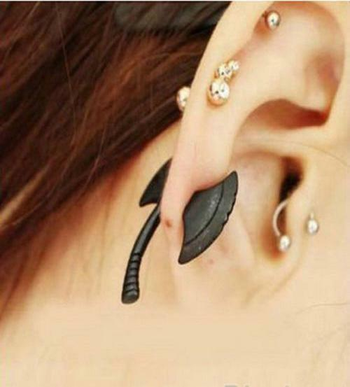 Details About New Fashion Punk Cool Hatchet Mens Womens Stud Earrings Piercing Jewelry
