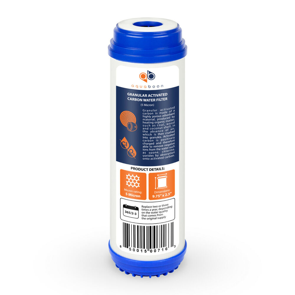 granular activated carbon block 5 micron water filter cartridge 10 by aquaboon ebay. Black Bedroom Furniture Sets. Home Design Ideas