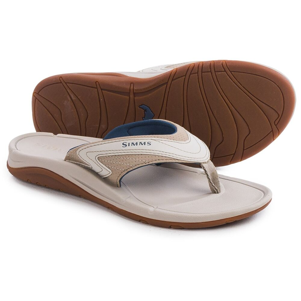 bed2442378d Details about Simms Women s Fishing Atoll Sandals   Flip-Flops - Vegan  Leather Multi Color NEW