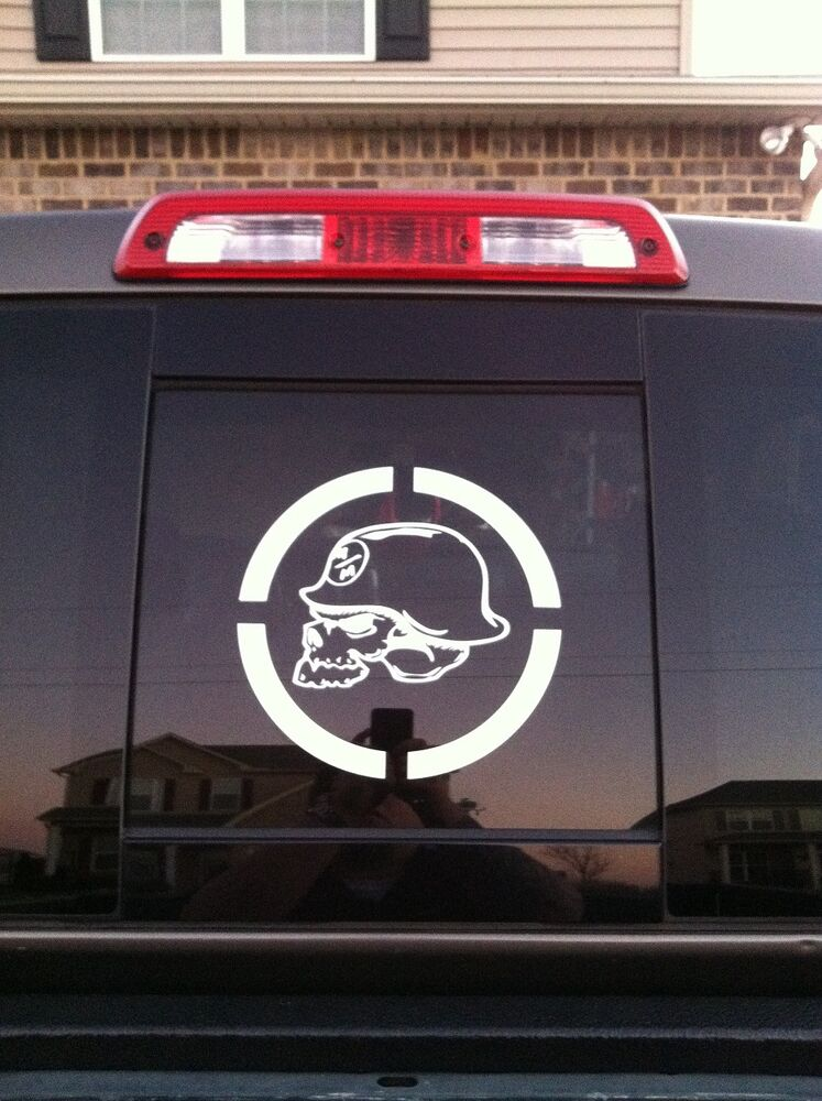 Metal Skull X Window Decal Decals F F Ram F Yamaha - F250 decalsmulisha skullxwindow bed decal decals f f ram