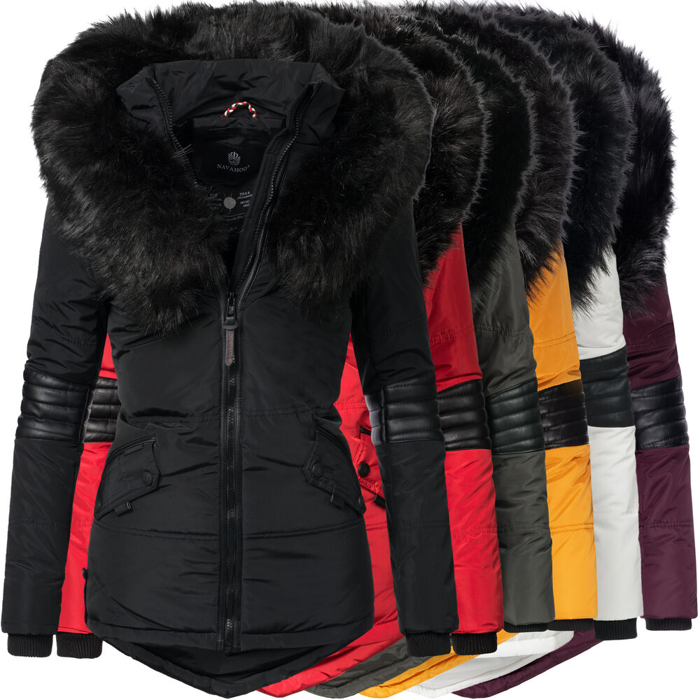 navahoo nirvana damen winter stepp jacke parka kurz mantel. Black Bedroom Furniture Sets. Home Design Ideas