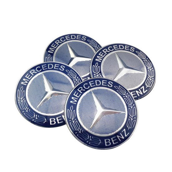 4pcs 65mm benz car wheel center hub cap stickers emblem for Mercedes benz wheel cap emblem