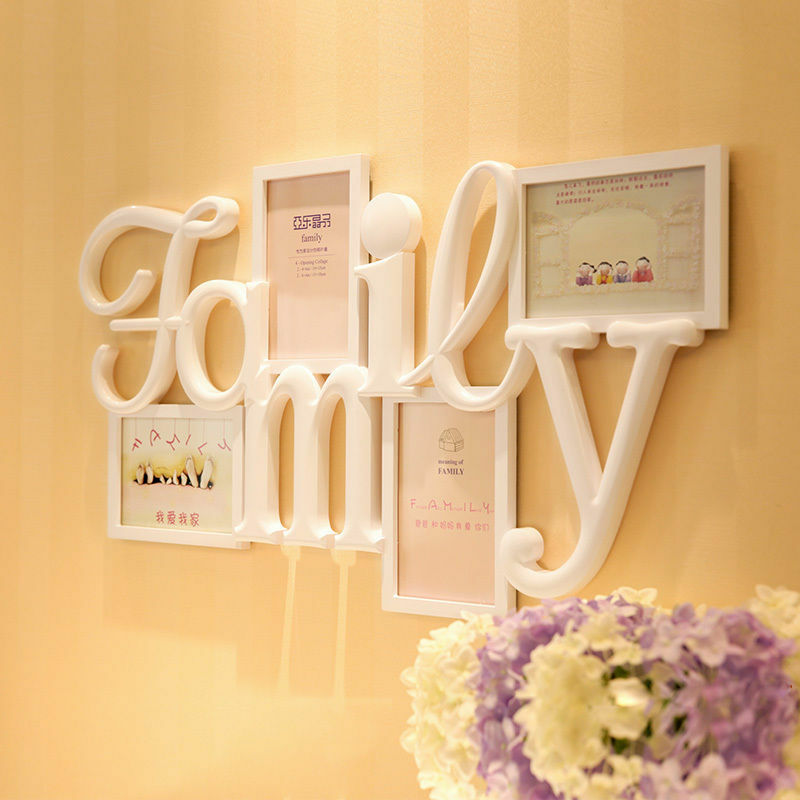 "Best Home Decor Gifts 2012: ""I Love My Family"" Wall Hanging Photo Frame Picture Home"
