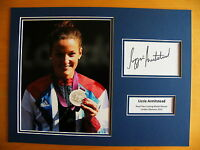 LIZZIE ARMITSTEAD HAND SIGNED AUTOGRAPH 16X12 PHOTO MOUNT OLYMPIC CYCLING & COA