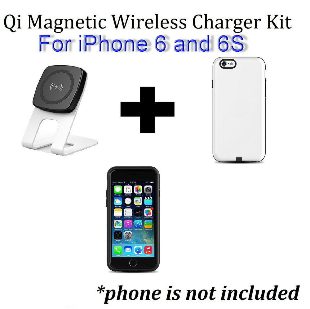 kome qi desk wire free wireless charger stand iphone 6s or iphone 6 case cover ebay. Black Bedroom Furniture Sets. Home Design Ideas
