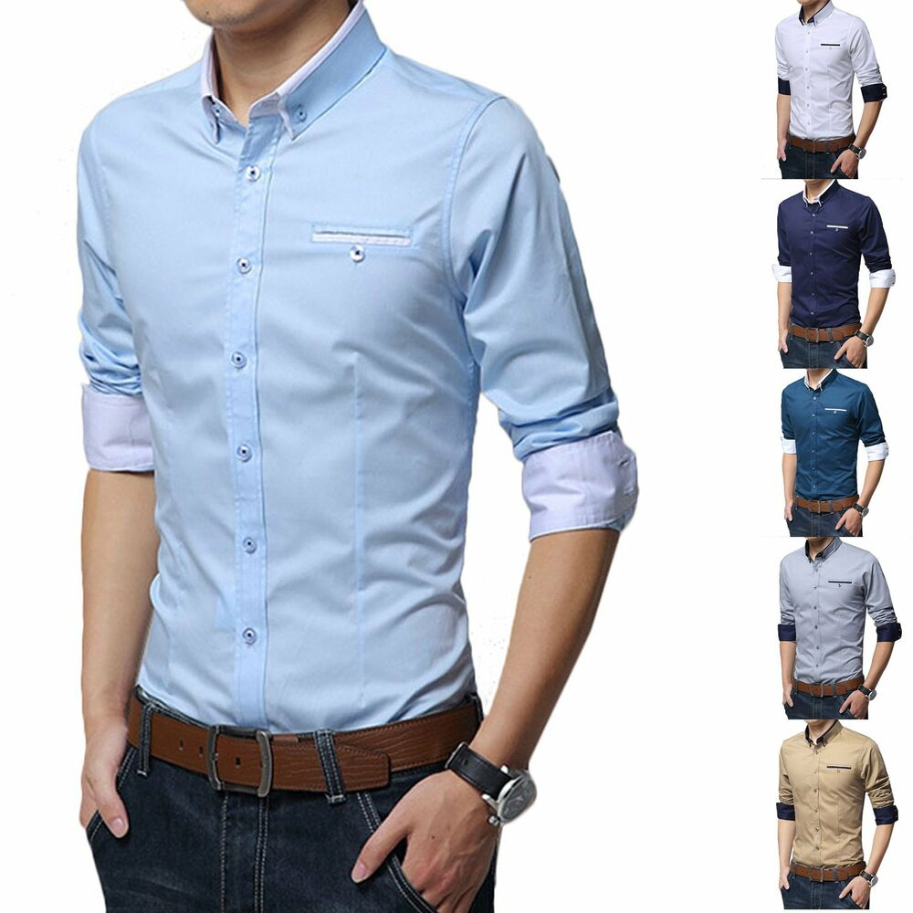 2016 fashion stylish mens business formal dress shirts