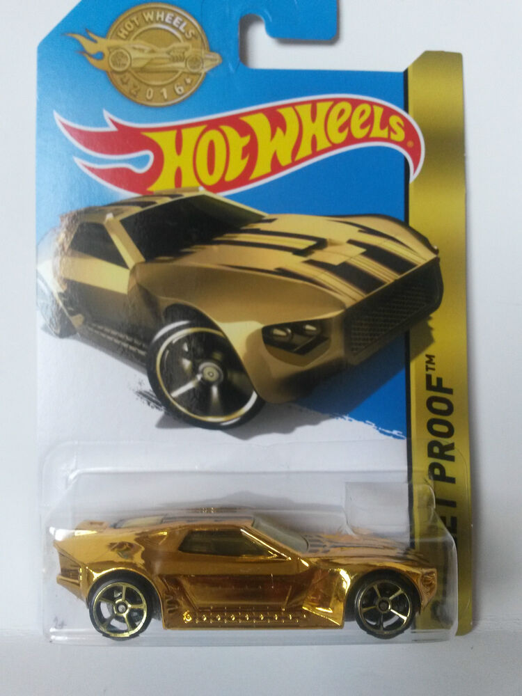 BULLET PROOF GOLD CAR SPECIAL EDITION Hot Wheels Diecast ...