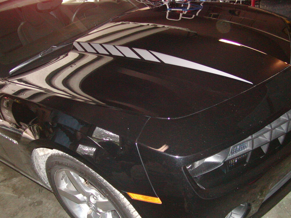 2012 13 2014 15 camaro faded hood cowl stripes spears. Black Bedroom Furniture Sets. Home Design Ideas