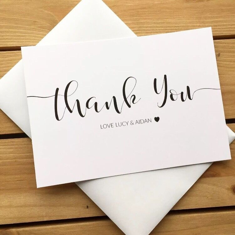 Personalised Wedding Thank You Cards Ebay Premium With Photo Free