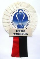 Bolton Wanderers Rosette Wembley 1986 Freight Rover Final v Bristol City