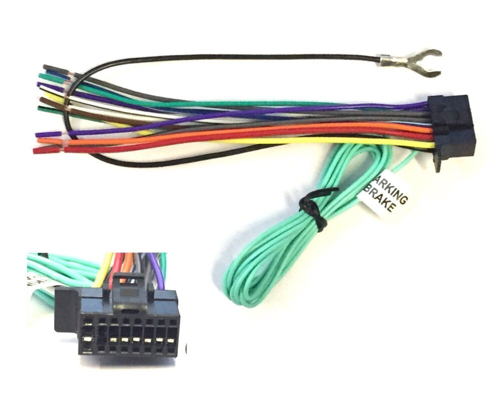 16 pin radio wire plug harness for sony xav 68bt xav 65bt sony stereo wiring harness diagram sony marine stereo wiring diagram