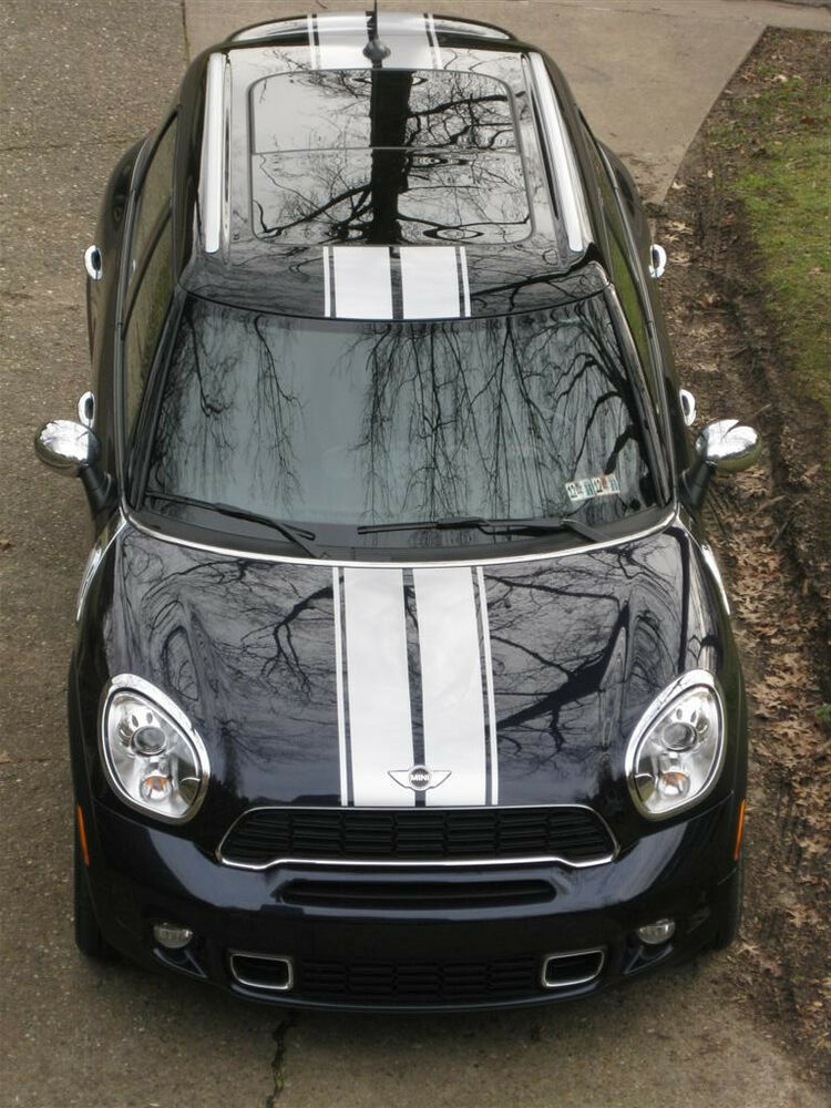 "8"" Twin Rally Stripe Stripes FIT ALL YR MODEL Mini Cooper"