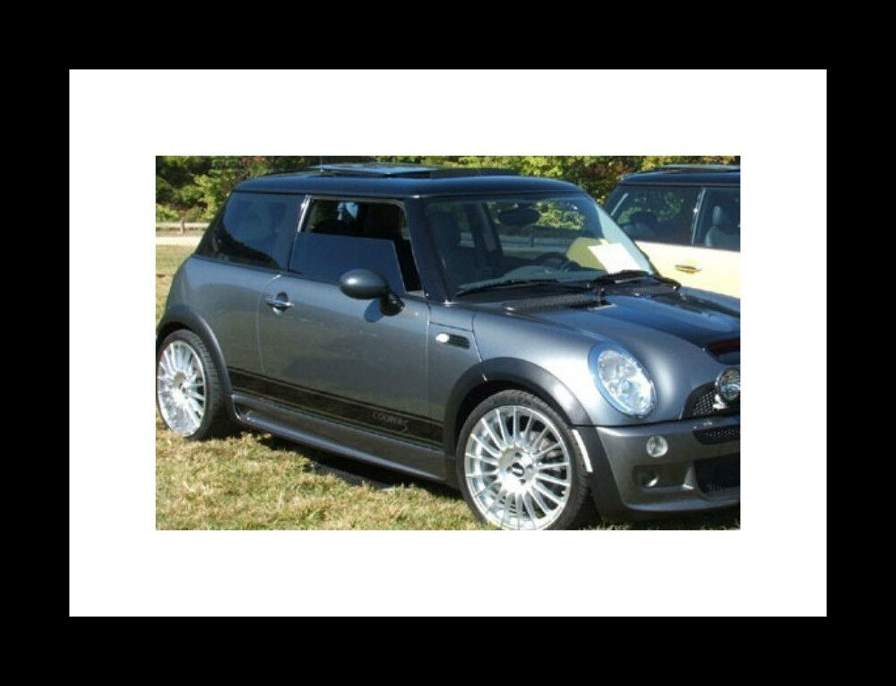 mini cooper clubman countryman cooper s side stripes stripe graphics rocker ebay. Black Bedroom Furniture Sets. Home Design Ideas
