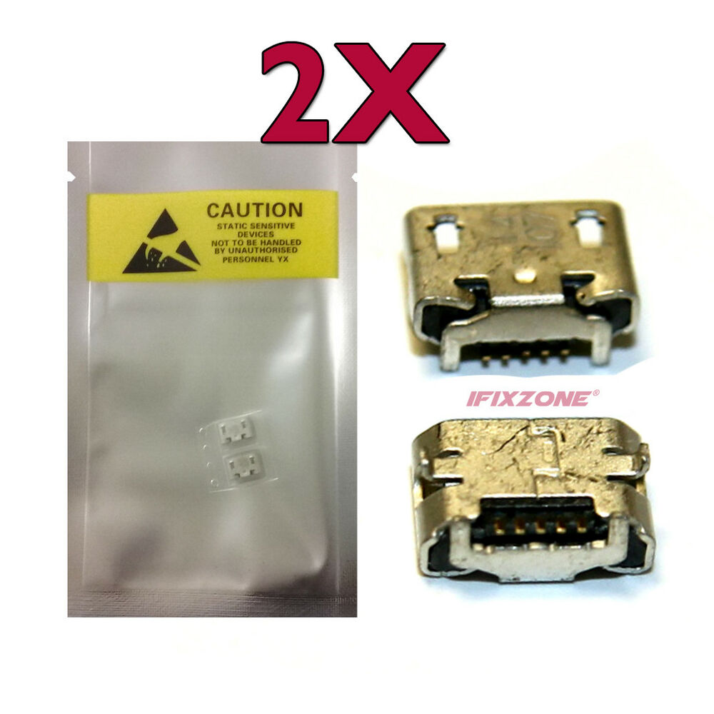 2 X New Micro Usb Charging Port Charger Part Sprint Hp
