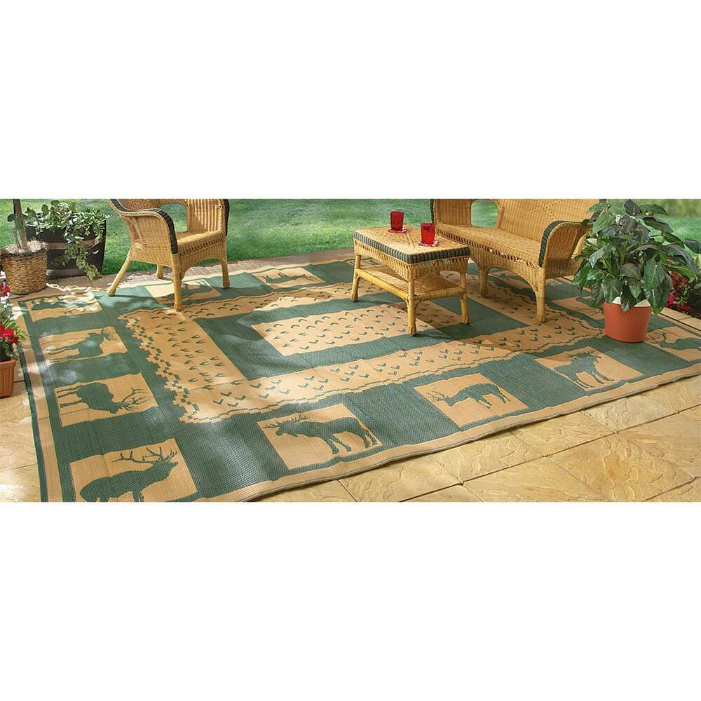 outdoor rug indoor rv patio mat deck camper beach area. Black Bedroom Furniture Sets. Home Design Ideas