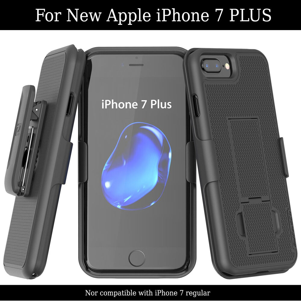 iphone 7 plus 5 5 belt clip case shell holster combo easy. Black Bedroom Furniture Sets. Home Design Ideas