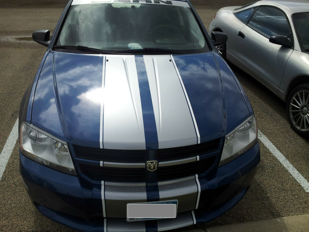 """Dodge Charger Accessories >> 2 color 10"""" Twin Rally stripes Stripe Graphics FIT All Year Dodge Avenger 