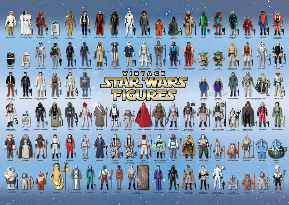 Old Star Wars Toys : Vintage star wars poster action figure checklist