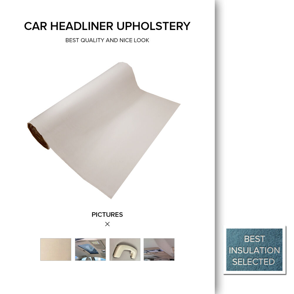 foam backing car truck suv roof headliner upholstery diy lining beige 1 5m x 2m ebay. Black Bedroom Furniture Sets. Home Design Ideas