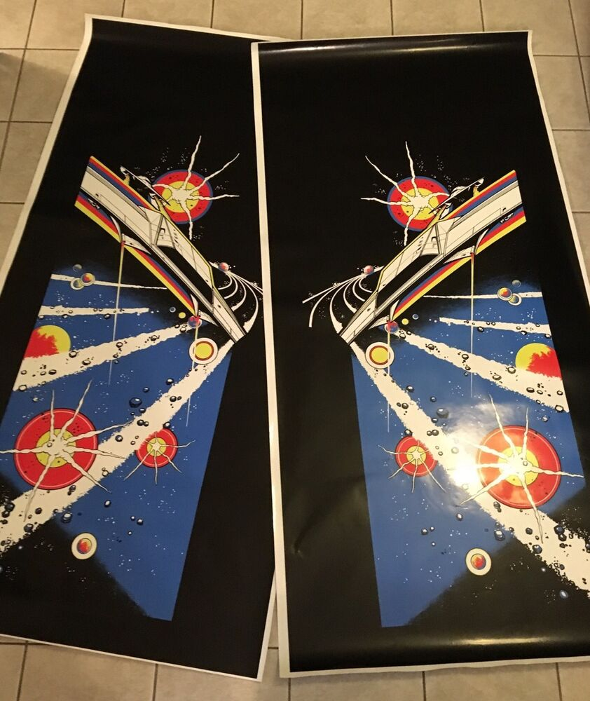 Asteroids Arcade Side Art Artwork Decal Overlay Midway Ebay