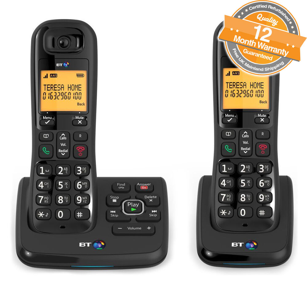 bt xd56 twin cordless phones with answering machine and. Black Bedroom Furniture Sets. Home Design Ideas