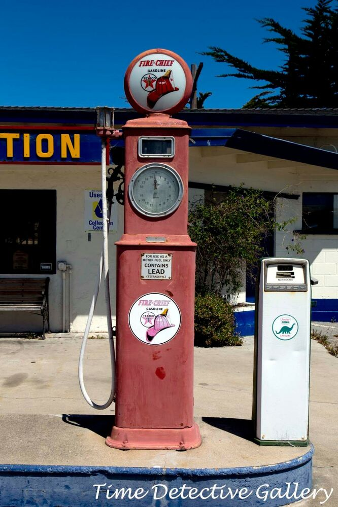 Vintage Fire Chief Gas Pump, Seaside, California - Giclee ...