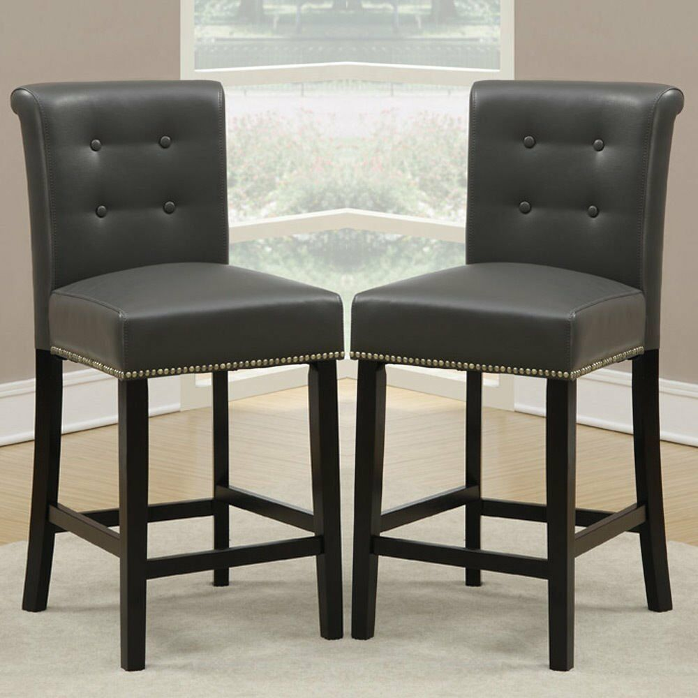 Set Of 2 Dining High Counter Height Chair Bar Stool 24 Quot H