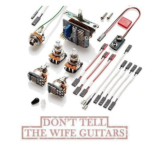 emg solderless active conversion wiring kit 3 pickups. Black Bedroom Furniture Sets. Home Design Ideas