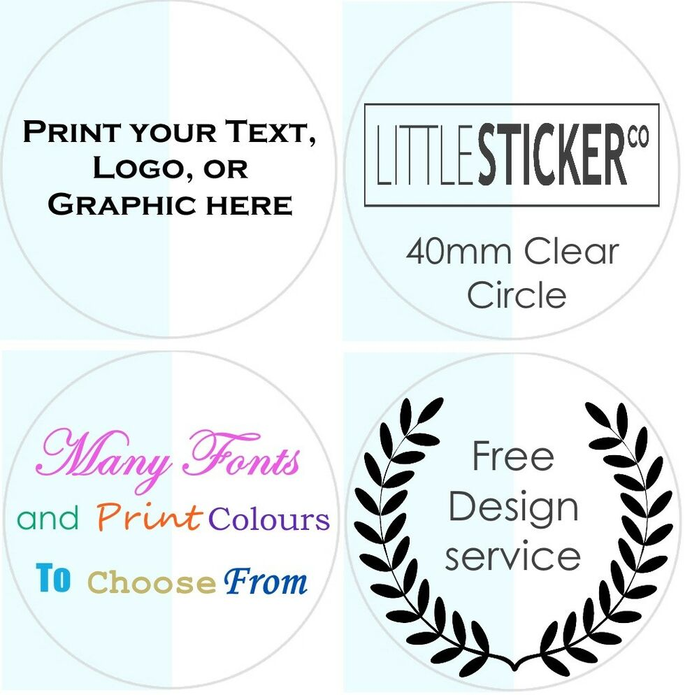 CLEAR Wedding Stickers Personalised Invitation Labels
