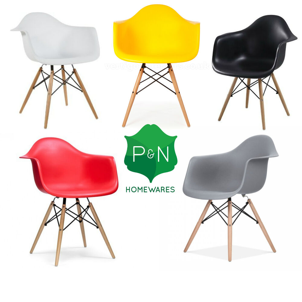 eiffel style da chair retro modern chairs red white black grey green ebay. Black Bedroom Furniture Sets. Home Design Ideas