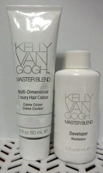 2 PC Combo Kelly Van Gogh MASTERBLEND Hair Color 1- 4G  &1-  DEVELOPER