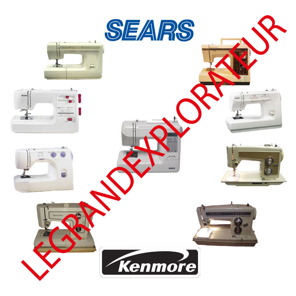 Ultimate Sears Kenmore Sewing Machine Instruction Repair Service manual on  DVD | eBay